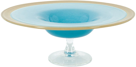 French Glass Tazza, ca. 1940s