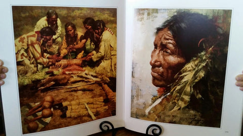 "Howard Terpning (American, b. 1927), ""Howard Terpning: The Storyteller"", ca. 1989, bound volume and offset lithograph, ed. 1500"