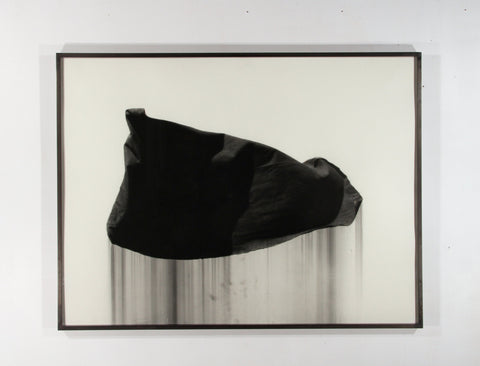 "Paul Jacobsen (American, b. 1976), ""Mourning Flag"", 2013, charcoal on paper"