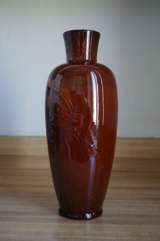 Rookwood Pottery Mahogany Glaze Vase Decorated with Waterbirds, 1899, Matt A. Daly