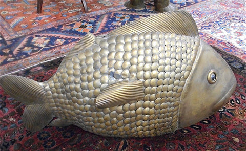 Sergio Bustamante (Mexican, b. 1943), Fish, patinated brass sculpture, signed, ed. 100