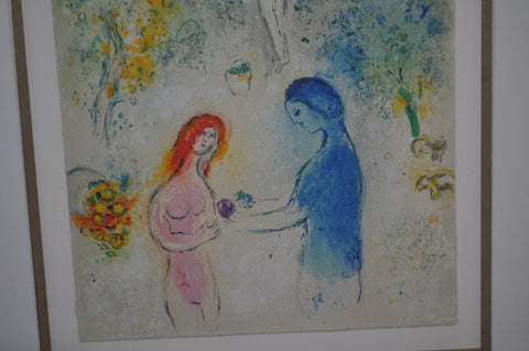 Marc Chagall (French/Belorussian, 1887-1985), Fronstispiece, from Daphnis & Chloé (Mourlot 308), 1961, color lithograph, ed. 250
