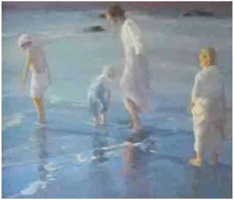 Donald Hatfield (American, b. 1947), At the beach, oil on canvas, signed