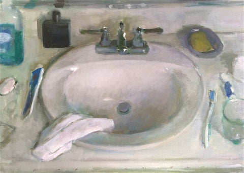 "Marc Whitney (American, b. 1955), ""Larger Sink"", oil on linen, signed"