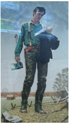 "After Norman Rockwell (American, 1894-1978), ""Young Lincoln"", 1977, lithograph in colors, signed, ed. 260"
