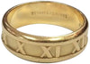 "Tiffany & Co 18K Yellow Gold ""Atlas"" Roman Numeral Band Ring, ca. 1995"