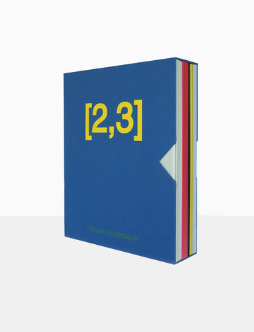 "Tauba Auerbach (American, b. 1981), ""[2, 3]"", 2011, artist's book,  six folios, die-cut and folded colored papers with screenprinting, ed. 1000"