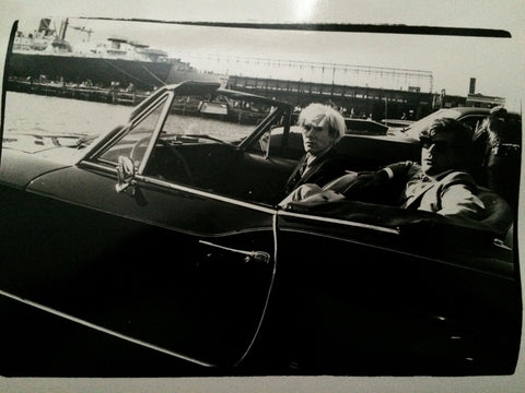 Andy Warhol (American, 1928-1987), Andy Warhol and Peter Wise, gelatin silver print