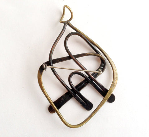 Brass and Copper Pendant or Brooch, designed by Art Smith (American, 1917-1982), ca. 1950s