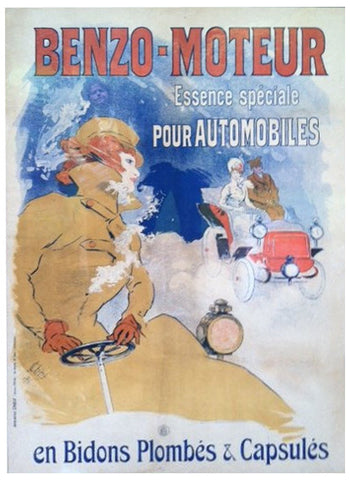 "Jules Cheret (French, 1836-1932), ""Benzo-Moteur"", 1900 (Broido 1031), lithograph in colors, with the French tax stamp"