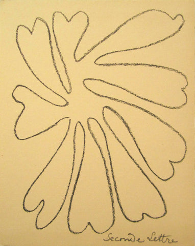 "Henri Matisse (French, 1869-1954), ""Untitled, 'Seconde Lettre'"", 1946, lithograph, ed. 250"