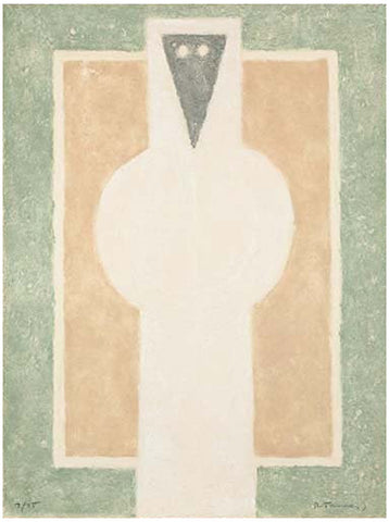 Rufino Tamayo (Mexican, 1899-1991), Personaje Blanco (White Person), 1976, etching in colors, signed and numbered 7/75