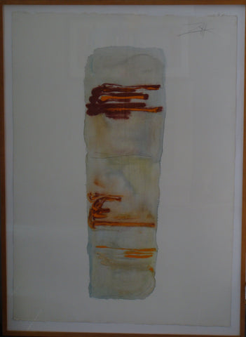 Larry Zox (American, 1936-2006), Untitled, mixed media on paper, signed