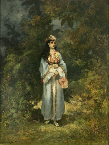 Léon Richet (French, 1847-1907), Orientalist Scene, 1872, oil on panel, signed
