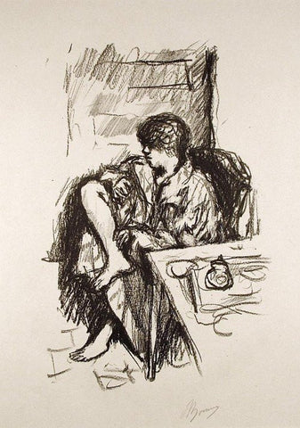 "Pierre Bonnard (French, 1867-1947), ""La Toillette Assise"", 1925, lithograph, signed, ed. of 25"