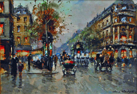"Antoine Blanchard (French, 1910-1988), ""Théâtre du Vaudeville"", ca.1960, oil on canvas, signed"