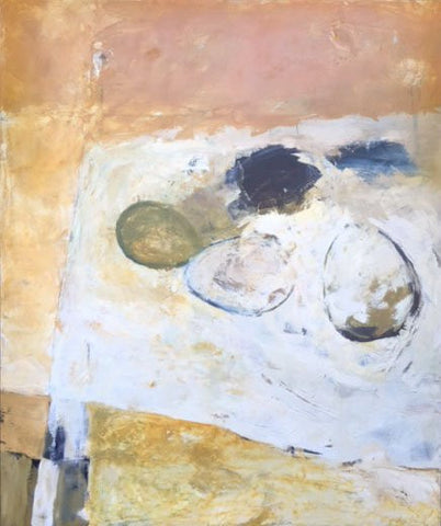 "Teresa Kalnoskas (American, contemporary), ""Egg"", 1993, oil on canvas, signed"