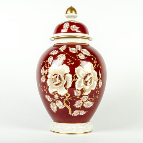 German Porcelain Covered Urn, manufactured by Rosenthal, 1950