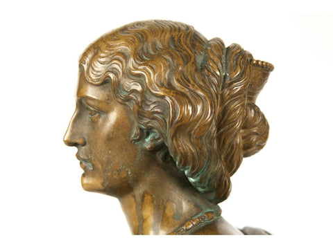 Auguste Clésinger (French, 1814-83), Bust of a Lady, bronze, ca. 1880, cast by Barbedienne