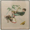 "After Norman Rockwell (American, 1894-1978), ""The Swing"", ca. 1975, lithograph in colors, signed, ed. 200"
