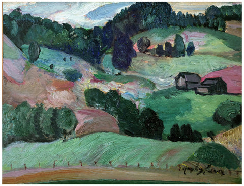 Hayley Lever (American, 1876-1958), View Outside Stowe, Vermont, oil on canvas, signed