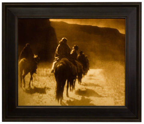 "Edward S. Curtis (American, 1868-1952), ""The Vanishing Race"", taken 1904, printed 2008, contemporary goldtone/orotone"