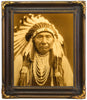 "Edward S. Curtis (American, 1868-1952), ""Chief Joseph\"", taken 1908, printed 2008, contemporary goldtone/orotone"