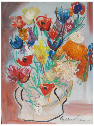Ludwig Bemelmans (American, 1898-1962), Floral Still Life, ca. 1950, oil on canvas, signed