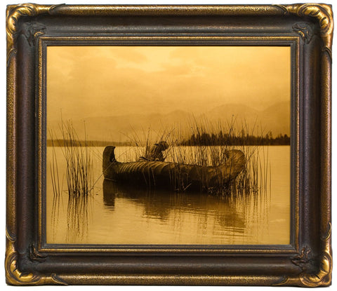 "Edward S. Curtis (American, 1868-1952), ""The Rush Gatherer"", taken 1910, printed 2008, contemporary goldtone/orotone"