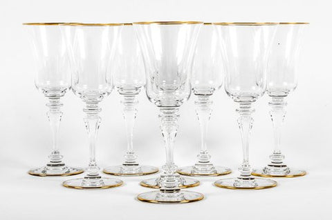 Set of Baccarat Crystal Glasses, France, 20th century, in the Vienne pattern