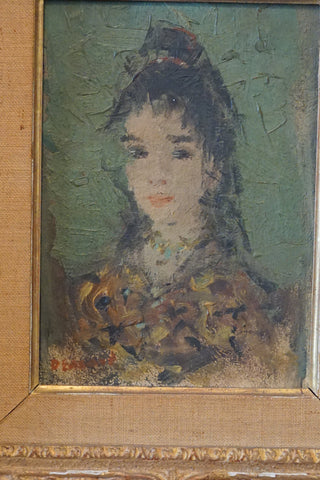 Dietz Edzard (German, 1893-1963), Portrait of a Lady, oil on panel, signed