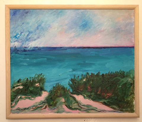 Duncan de Kergommeaux (Canadian, b. 1927), Passing Storm, Lake Huron, 1986, oil on canvas, signed, titled and dated