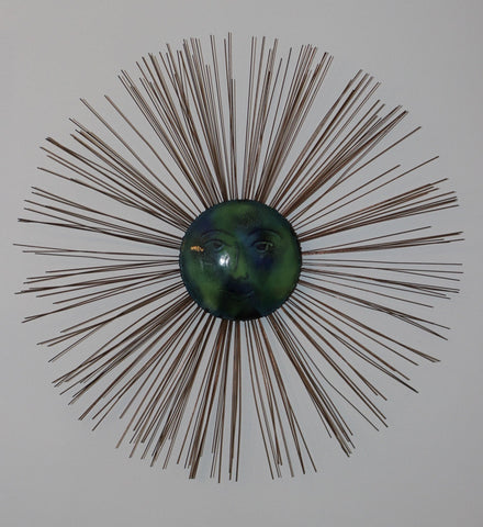 C. Jeré, Moon Starburst, 1966, wall sculpture, designed by Curtis Jeré for Artisan House