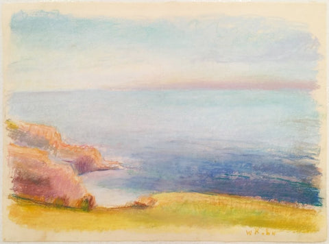 Wolf Kahn (American/German, b. 1927), Nantucket Sound, ca. 1990, pastel on paper, signed