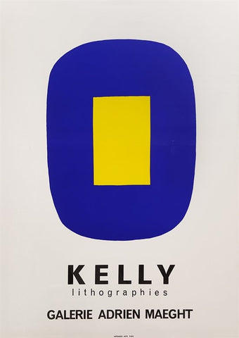 After Ellsworth Kelly (American, 1923-2015), Blue with Yellow (Untitled), Kelly Lithographies Galerie Maeght, 1965, lithograph