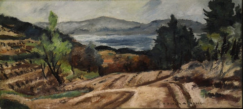André Dunoyer De Segonzac (French, 1884-1974), Le Golf de Saint Tropez, ca. 1935, oil on canvas, signed