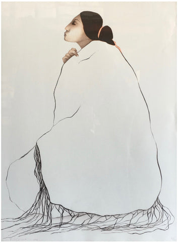 R.C. Gorman (Native American/Navajo, 1931-2005), Woman From Canyon de Chelly (State II), 1978, lithograph, signed