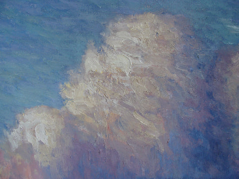Brian Sindler (American, b. 1957), Rising Lavender Clouds, oil on canvas, signed with initials