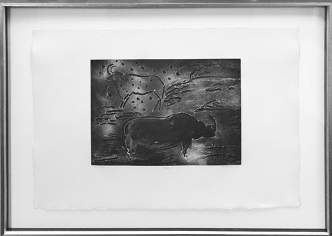 "Elaine De Kooning (American, 1918-1989), ""Torchlight Cave Drawings #4"", 1985, etching, signed and dated"