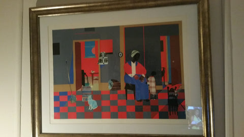 "After Romare Bearden (American, 1911-1988), ""Early Carolina Morning"", 1996, offset lithograph in colors, ed. 950"