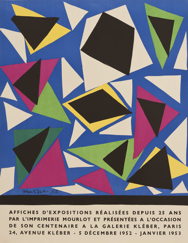 "After Henri Matisse (French, 1869-1954), ""Exposition D'Affiches"", 1952, lithographic poster, ed. 800"