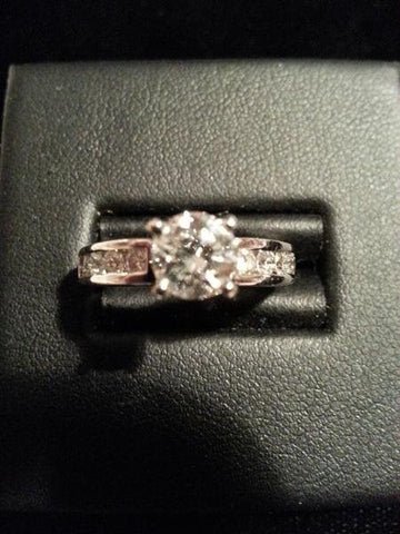 14K White Gold and Diamond Engagement Ring, 20th century