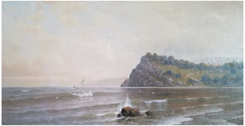 Kanute Felix (American/Swedish, 1852-1935), Coastal Scene, oil on canvas, signed