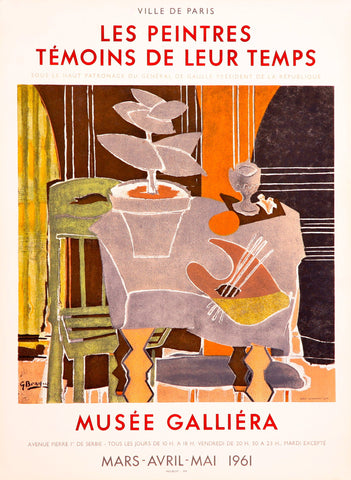 "After Georges Braque (French, 1882-1963), ""Musée Galliéra"", 1961, lithographic poster"