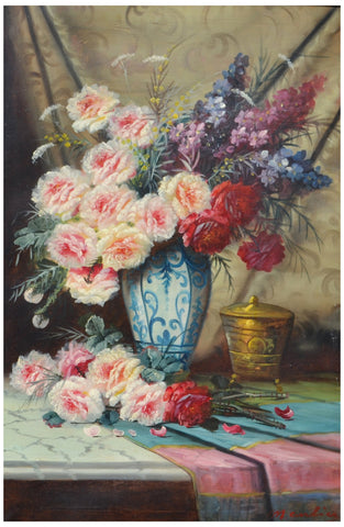 Max Carlier (Belgian, 1872-1938), Still Life, oil on canvas, signed