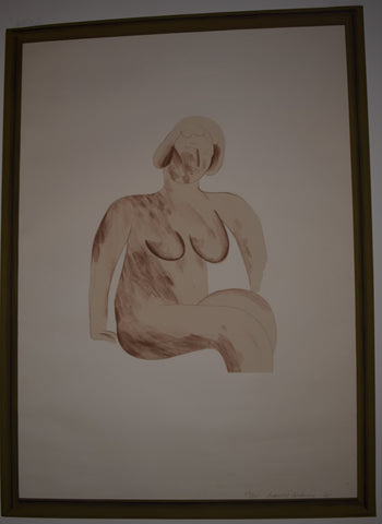 "David Hockney (British, b. 1937), ""Picture of a Simple Framed Traditional Nude Drawing"", 1965, lithograph, signed, ed. 85"