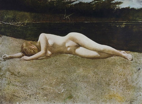 "After Andrew Wyeth (American, 1917-2009), six collotypes after: ""The Reefer"", ""Beauty Mark"", ""Siri"", ""Black Water"", ""The Virgin"", and ""Sauna"", 1977-85, signed"