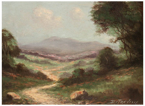 Richard Detreville (American, 1864-1929), California Landscape, oil on canvas, signed