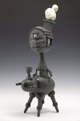 "Calvin Ma (American, contemporary), ""On Guard"", 2016, stoneware, porcelain, glaze"