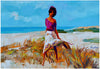 Nicola Simbari (Italian, 1927-2012), Girl on the Beach, oil on canvas, signed